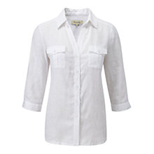 Buy Viyella Linen Blouse, White Online at johnlewis.com
