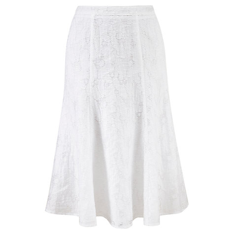 Buy Viyella Petite Burnout Skirt, White Online at johnlewis.com