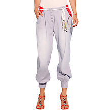 Buy Desigual Lefant Trousers, Blue Online at johnlewis.com
