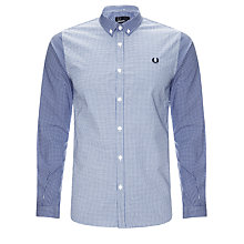 Buy Fred Perry Gingham Contrast Print Long Sleeve Shirt Online at johnlewis.com
