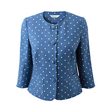 Buy East Victoire Linen Jacket, Ceramic Online at johnlewis.com
