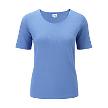 Buy Viyella Textured Top, Periwinkle Online at johnlewis.com