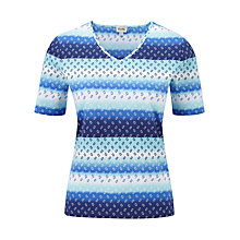 Buy Viyella Ombre Striped Jersey Top, Multi Online at johnlewis.com