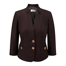 Buy CC Stitched Linen Jacket, Chocolate Online at johnlewis.com