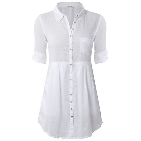 Buy White Stuff Sixth Sense Tunic Dress, White Online at johnlewis.com