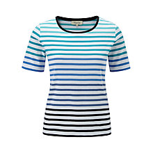 Buy Viyella Striped Jersey Top, Blue Online at johnlewis.com