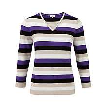 Buy CC Stripe V-Neck Jumper, Multi Online at johnlewis.com
