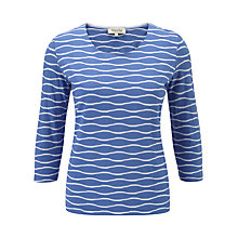 Buy Viyella Periwinkle Top, White Online at johnlewis.com