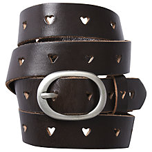 Buy White Stuff Heart Cut-Out Skinny Belt Online at johnlewis.com