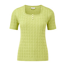 Buy CC Cable Detail Square Neck Jumper, Kiwi Online at johnlewis.com