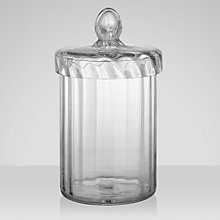 Buy John Lewis Ribbed Glass Container Online at johnlewis.com