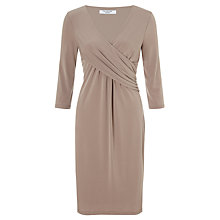 Buy COLLECTION by John Lewis Tiara Draped Dress, Mocha Online at johnlewis.com