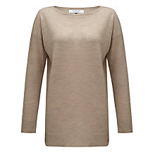 Buy COLLECTION by John Lewis Lorelei Oversized Crew Neck Jumper, Latte Online at johnlewis.com