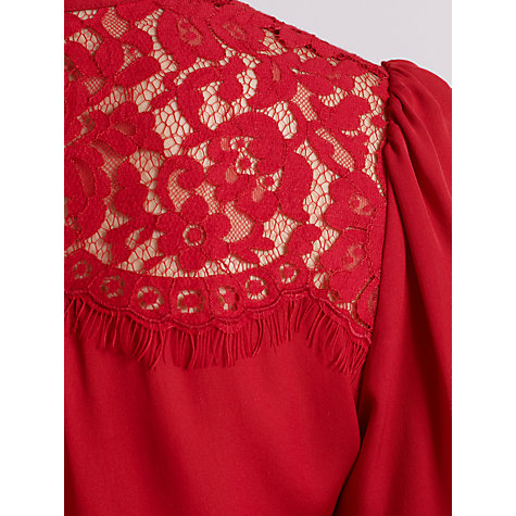 Buy Somerset by Alice Temperley Lace Blouse, Claret Online at johnlewis.com