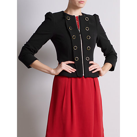 Buy Somerset by Alice Temperley Button Detail Jacket, Black Online at johnlewis.com