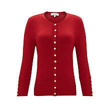 Buy Somerset by Alice Temperley Button Detail Cardigan, Claret Online at johnlewis.com