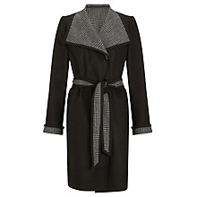 Buy John Lewis Lucy Wrap Coat, Black Online at johnlewis.com