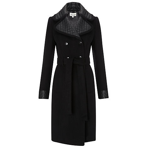 Buy Somerset by Alice Temperley Fit and Flare Coat, Black Online at johnlewis.com