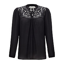 Buy Somerset by Alice Temperley Lace Detail Blouse, Black Online at johnlewis.com