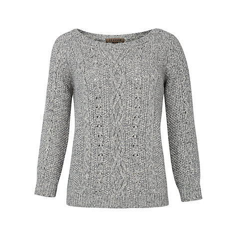 Buy Jigsaw Marl Cable Knit Jumper Online at johnlewis.com