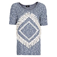 Buy Mango Navajo Fleck Sweatshirt, Blue Online at johnlewis.com