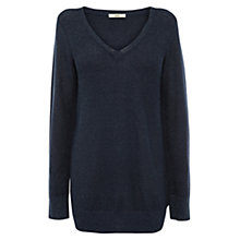 Buy Oasis Oversized Sparkle Jumper, Navy Online at johnlewis.com