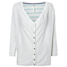 Buy White Stuff Fauna Linen Blend Cardigan, Double Cream Online at johnlewis.com