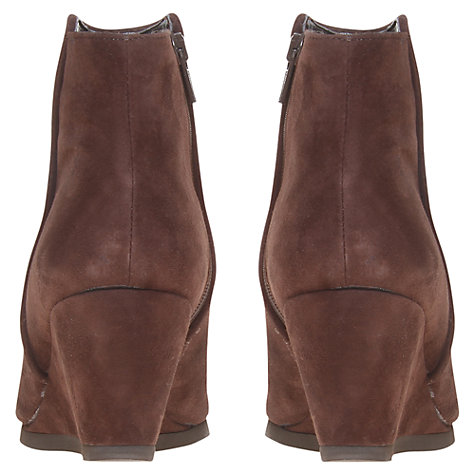 Buy Carvela Saddle Nubuck Leather Wedge Heel Ankle Boots Online at johnlewis.com