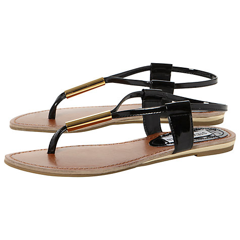 Buy Steve Madden Hamil Metal Trim Toe Post Sandals Online at johnlewis.com