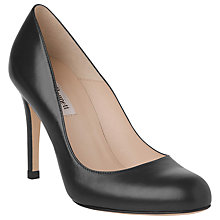 Buy L.K. Bennett Shilo Round Toe Court Shoes, Black Online at johnlewis.com