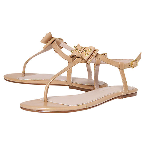 Buy KG by Kurt Geiger Missouri Leather Studded T-Bar Sandals Online at johnlewis.com