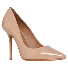 Buy Kurt Geiger Ellen Patent Leather Court Shoes, Nude Online at johnlewis.com