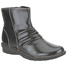 Buy Clarks Nailsea Town Ankle Boots, Black Online at johnlewis.com
