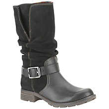 Buy Clarks National Spice Combi Leather Boots Online at johnlewis.com