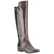 Buy Clarks Licorice Snap Knee Boots, Brown Online at johnlewis.com