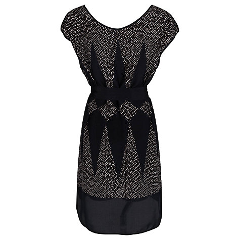 Buy French Connection Harlequin Dress, Black/Oyster Shell Online at johnlewis.com