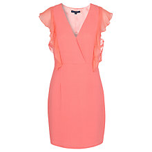 Buy French Connection Mid Summer Dress, Coral Online at johnlewis.com