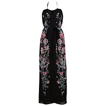 Buy French Connection Rio Dress, Black/Pink Multi Online at johnlewis.com