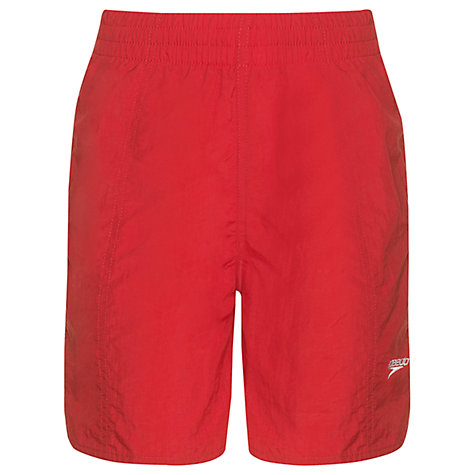 Buy Speedo Boys' Solid Leisure Water Shorts, Red Online at johnlewis.com