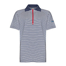 Buy Guides Uniform Striped Short Sleeve Polo Shirt, Navy/White Online at johnlewis.com