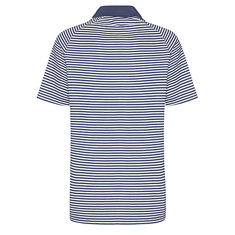Buy Guides Striped Short Sleeve Polo Shirt, Navy/White Online at johnlewis.com