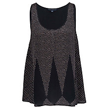 Buy French Connection Harlequin Vest Top, Black/Oyster Shell Online at johnlewis.com