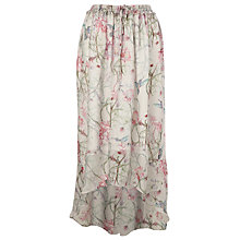 Buy French Connection Eden Skirt, Pale Grey/Pink Multi Online at johnlewis.com