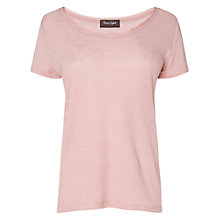 Buy Phase Eight Mona Linen Top, Dusty Pink Online at johnlewis.com