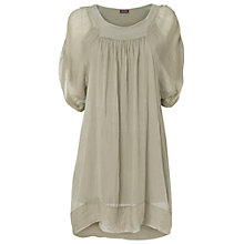 Buy Phase Eight Made In Italy Sinead Silk Tunic, Khaki Online at johnlewis.com