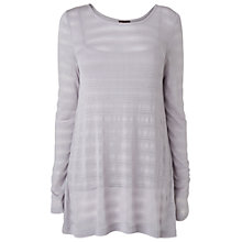 Buy Phase Eight Shadow Joplin Top, Silver Online at johnlewis.com