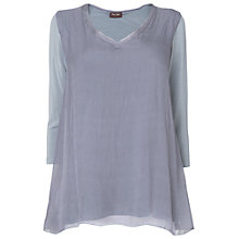 Buy Phase Eight Made In Italy Maude Silk V-Neck Tunic, Sky Blue Online at johnlewis.com