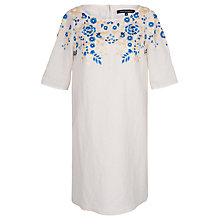 Buy French Connection Melody Dress, White/Multi Online at johnlewis.com