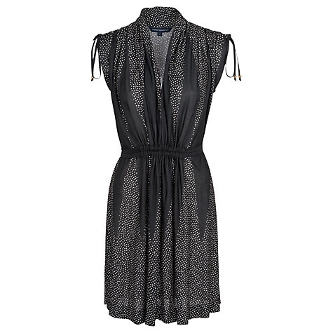 Buy French Connection Harlequin Dress, Black/Classic Cream Online at johnlewis.com