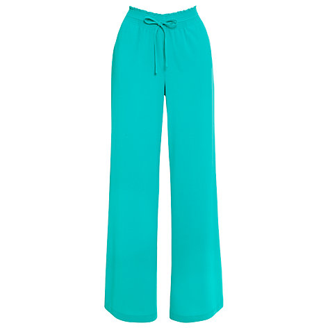 Buy Lauren by Ralph Lauren Wide Leg Tie Waist Trousers, Merengue Turquoise Online at johnlewis.com